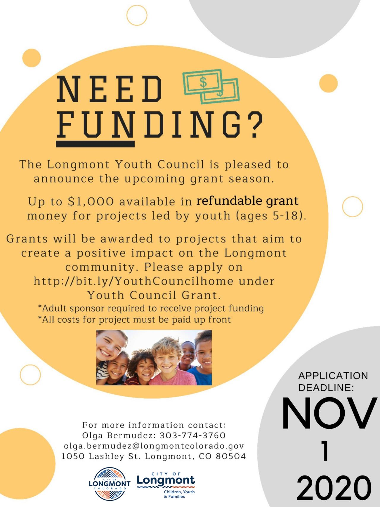 Youth Council grant fundingflyer