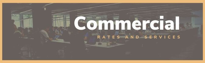 Commercial Rates and Services Banner