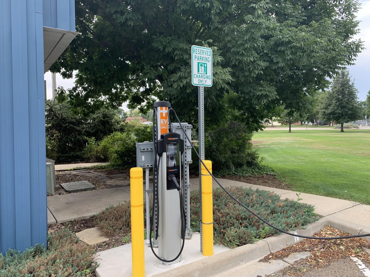 Electric vehicle charger picture