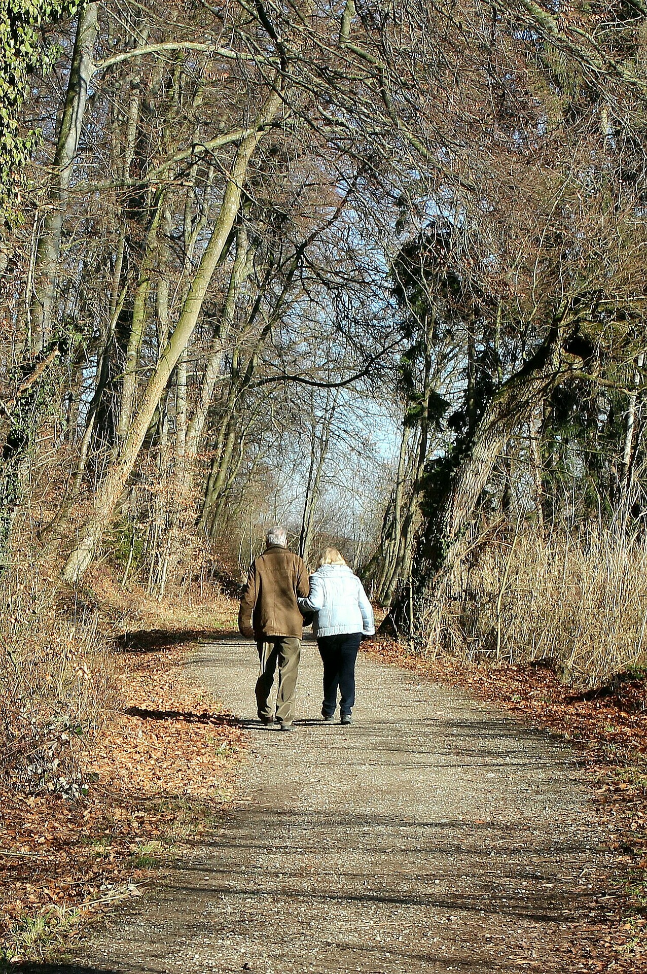 Couple Walking Away On a Trail
