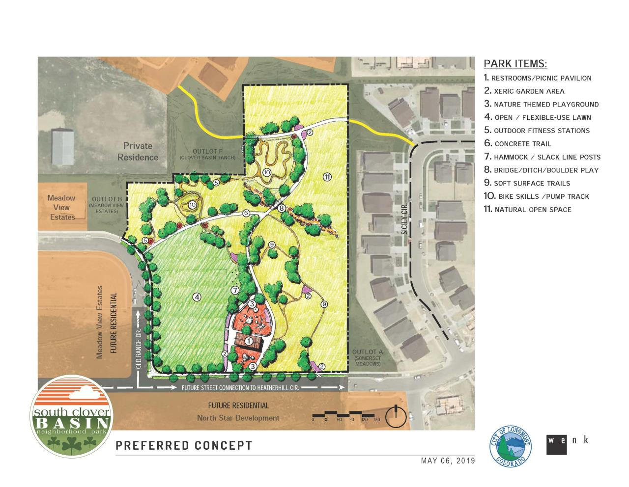 South Clover Basin Park master plan selected