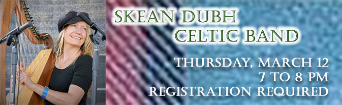 Skean Dubh are bringint their Celtic music to the Library in March.
