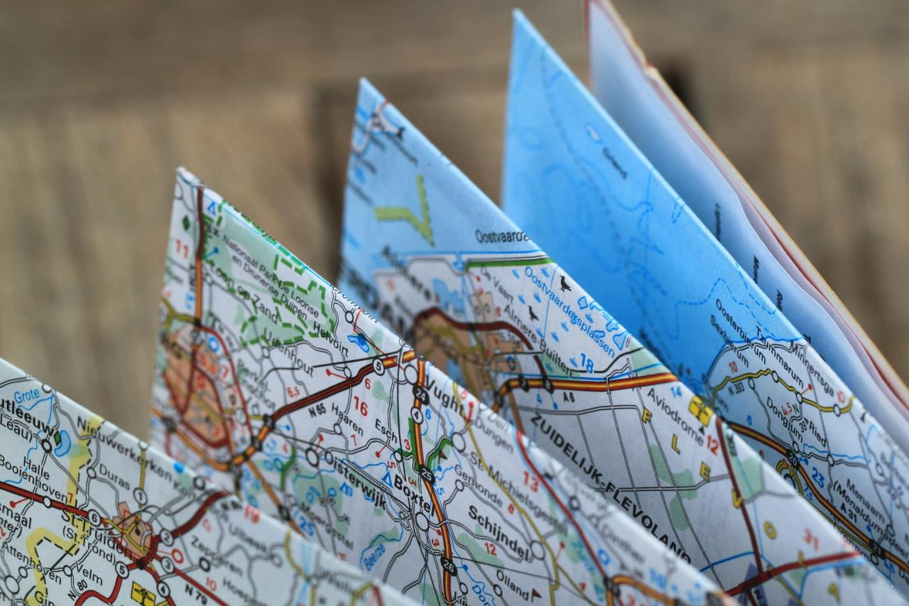 Folded Road Map