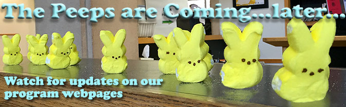 The Library's annual PEEPS literary diorama contest has been postponed.