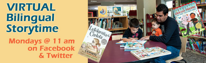 The library is offering a bilingual storytime for children while it is closed.