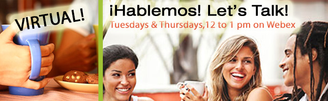The library is hosting Hablemos online.