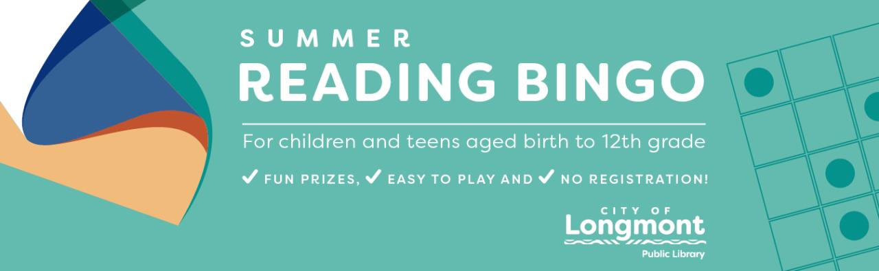 Play Summer Reading Bingo with the Library!