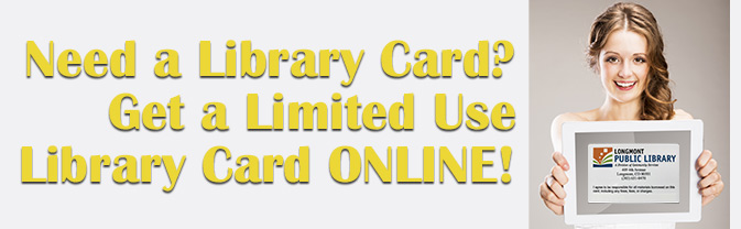 You can get a temporary, online library card.