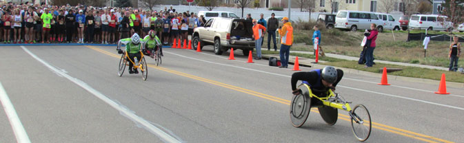 wheelchair start turkey trot race
