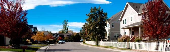 This is a photo of a residential street in Longmont.