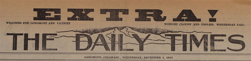 Daily Times Extra, December 1, 1915