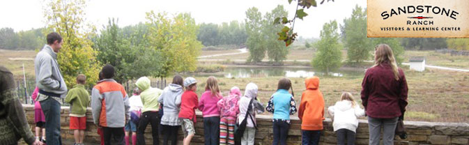 Sandstone Ranch Visitors Learning Center school group