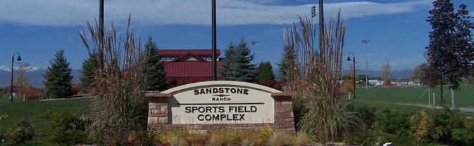 Sandstone Ranch Ballfield Sign