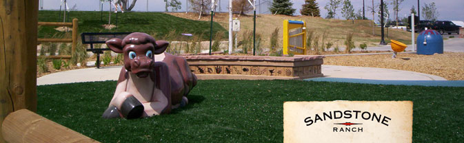 Sandstone Ranch Playground cow