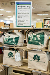 The Books in a Bag program provides book kits for book discussion groups.