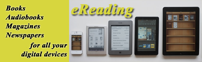 The library has thousands of ebooks and emagazines for downloading.
