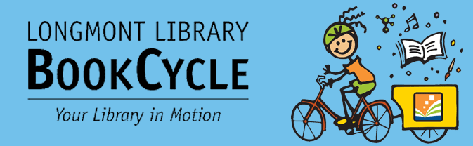 The library has a BookCycle that brings the library to local events and parks in the summertime!