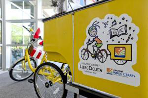The Library has a mobile BookCycle!