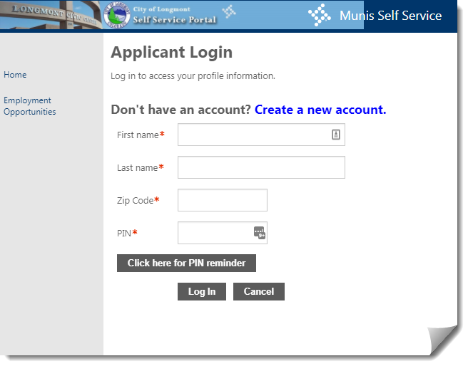 self service portal tutorial city of longmont colorado