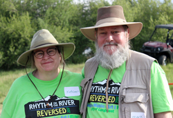 Vounteering is a great way to give back to the community together - at Rhythm on the River