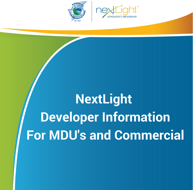 Front cover for NextLight MDU developer installation packet