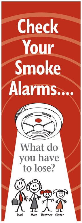 Check Your Smoke Alarm message