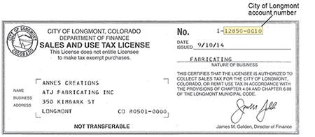 Colorado Longmont Return And Sales Online Tax Of Filing Payment Use City