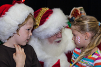 Santa visit at Longmont Lights