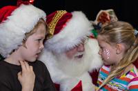 Santa visit at Longmont Lights