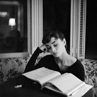 Audrey Hepburn loved to read.