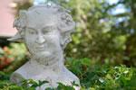 Baccus statue in Callahan House garden