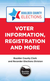 Voter Information, Registration and More Boulder County